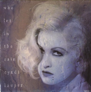 "Cyndi Lauper ‎- Who Let In The Rain (7"") (VG+/VG+)"